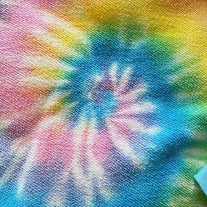 Free people terrycloth top rainbow spiral